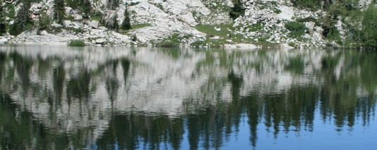 Mary's lake reflection