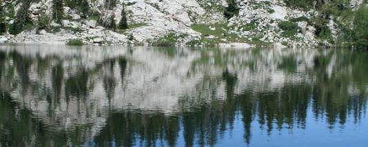 Mary's lake reflection