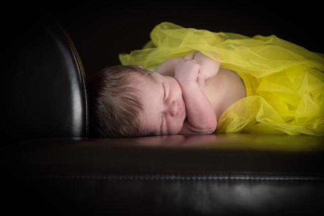 baby in yellow tutu