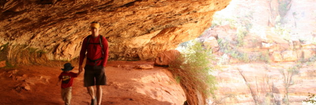 Hiking the rim trail at Zion