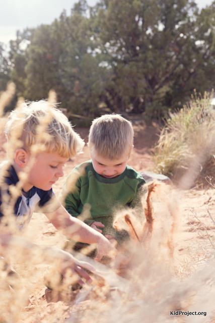 kids in sand