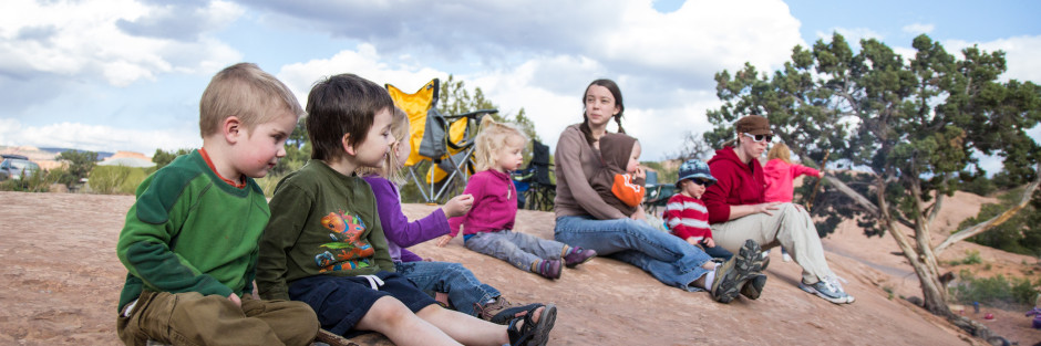 group camping trips with lots of kids