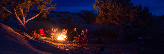 Campfire in Sandflats Recreational Area