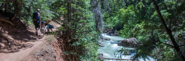 HIke to fifth water hot springs