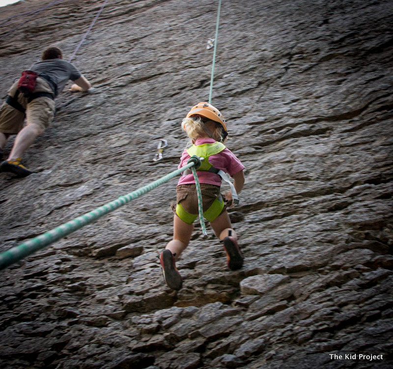 lowering kids while climbing