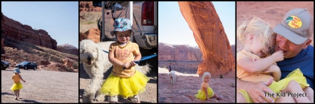 yellow tutu in the desert