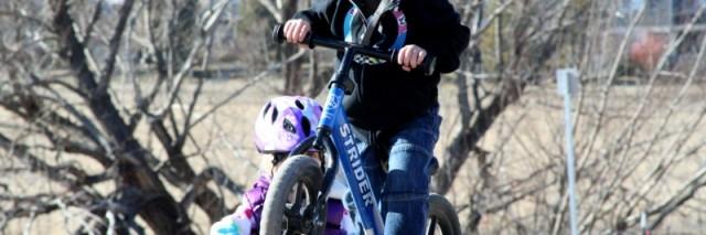 Strider balance bike, BMX