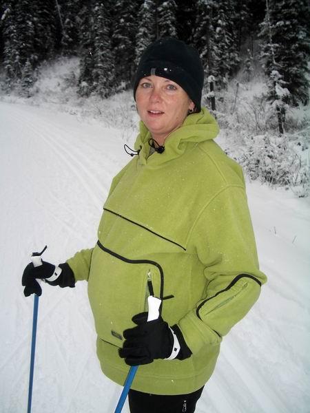 Skiing in my third trimester1 Expect[ing] to Thrive: Hiking, skiing, and international travel during pregnancy!