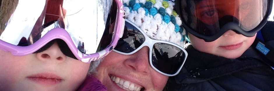 skiing with the kids - layering their clothing