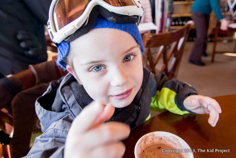 boy, hot chocolate, goggles