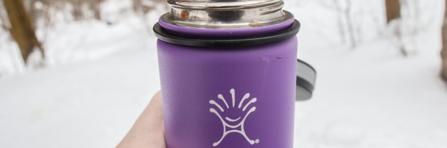 hydroflask and hand