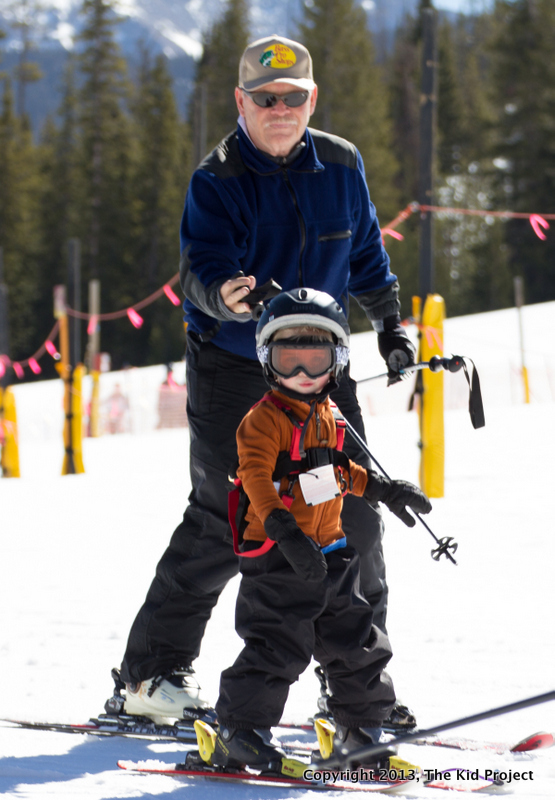 Kids skiing with Edgie Wedgie