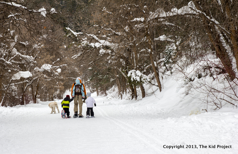 A family affair- snowshoeing