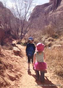 Kids hiking Negro Bill, with Deuter Junior backpack
