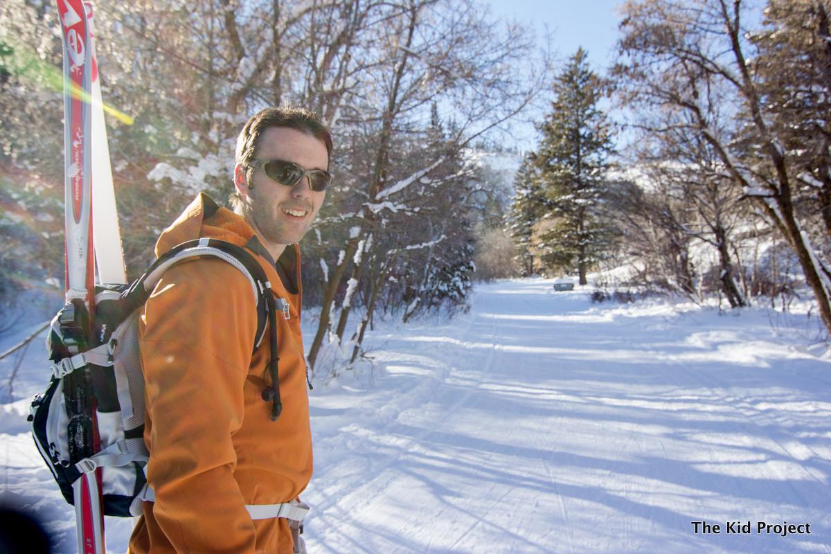 Patagonia softshell, nordic, backcountry skiing