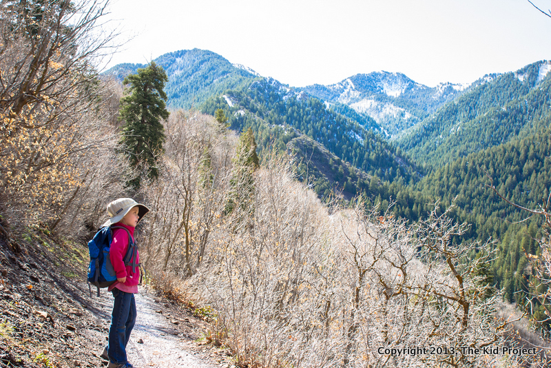 Kids hiking, Wasatch range, Pipeline Trail, Millcreek