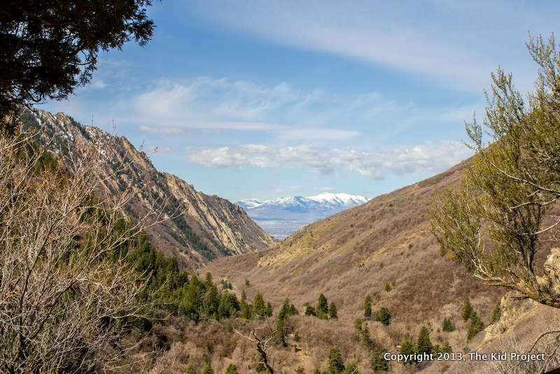 View of Salt Lake from Mill Creek Canyon