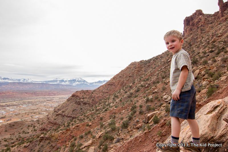 Hiking hideen Valley, Moab, Hi-Tec hiking boots