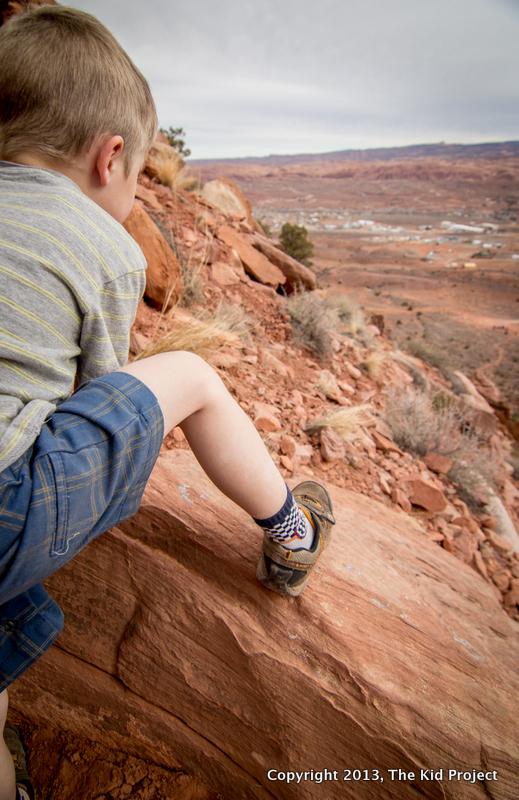 hiking, scrambling, kid's Hi-Tec, Moab