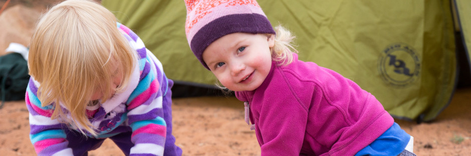 Little girl, Tent, Moab - Camping Chronicles Sliders