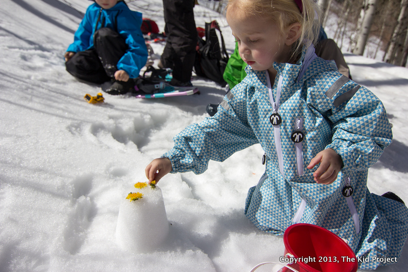 snow castles, kid's outdoor play