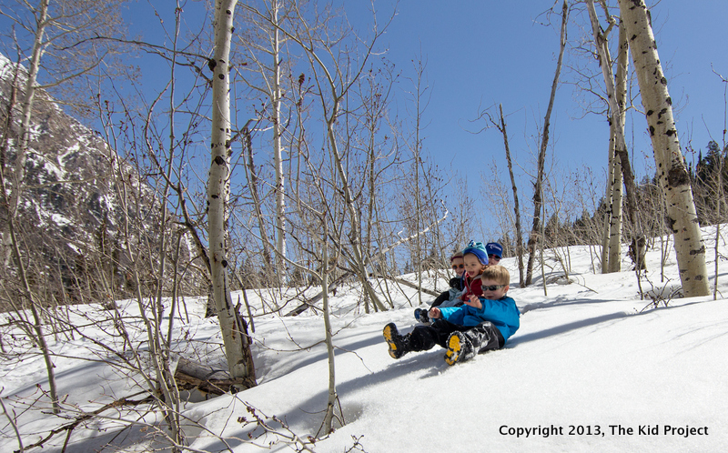 sledding and snow play, utah