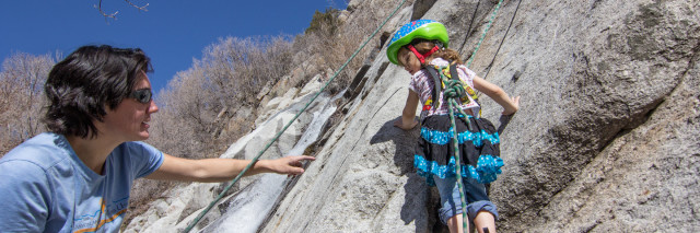 climbing with kids, Lisa Falls Utah