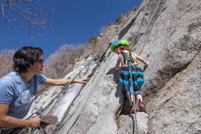 climbing with kids, Lisa Falls Utah