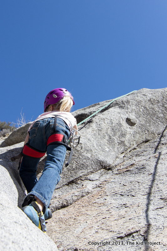 6 yr old climbing at Lisa Falls