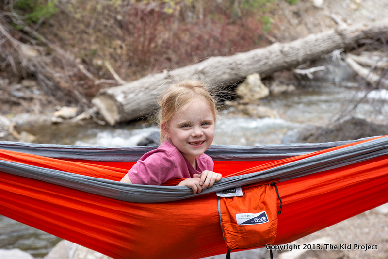 Girl camping in ENO Hammock, AF Canyon, UT