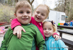 camping with three kids