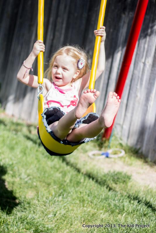 girl on swings, recess