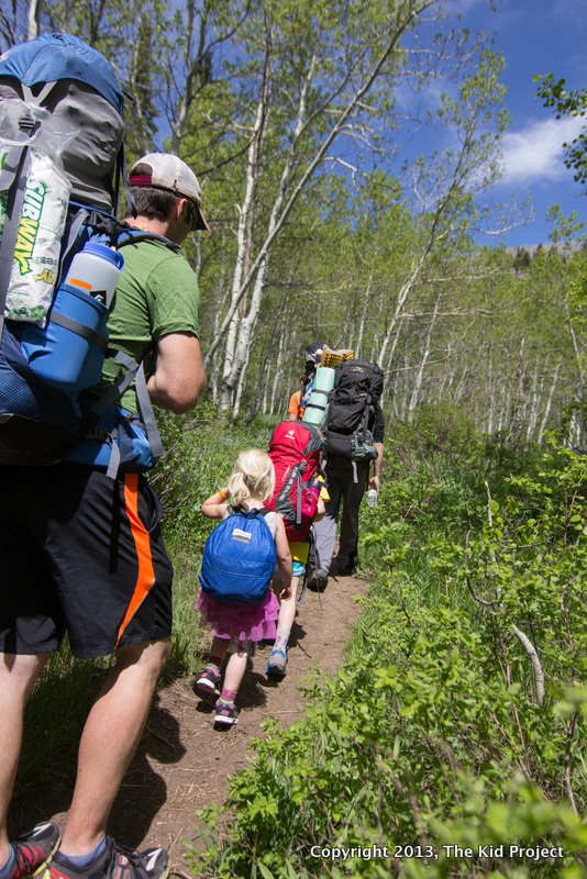 Family Backpacking on the trail