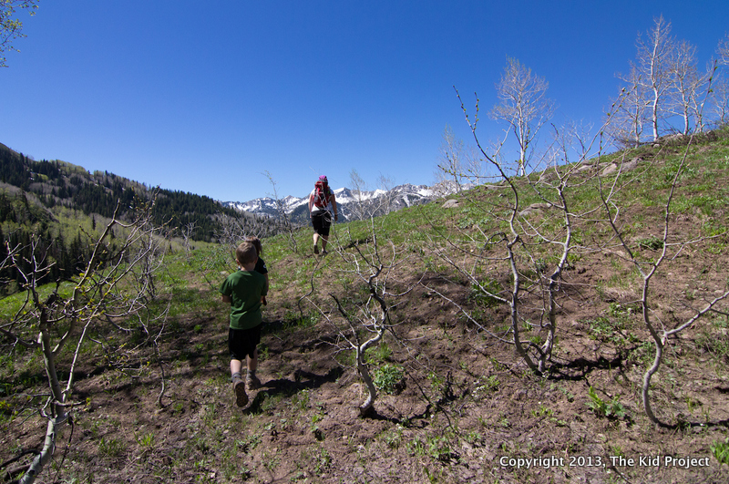 Hiking to overlook Willow Lake and Wasatch