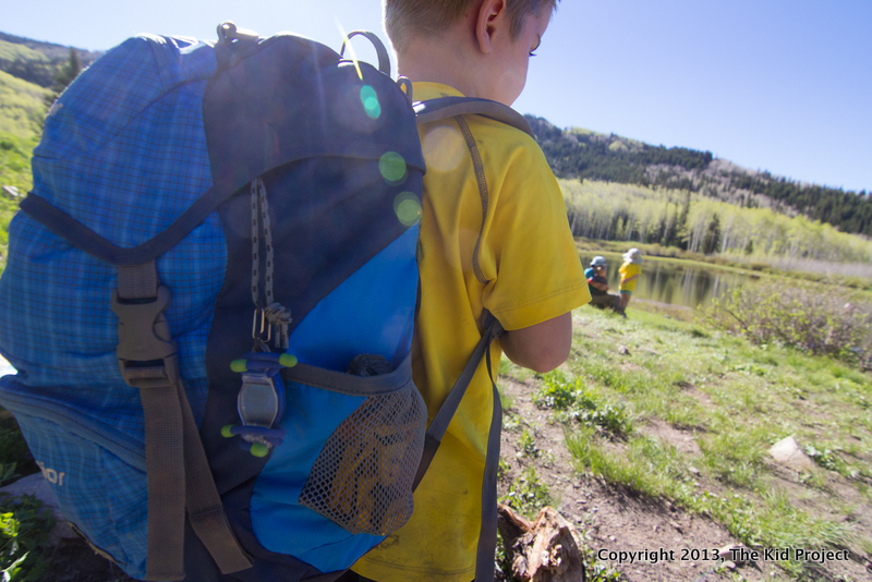 Boy hiking with Deuter backpack