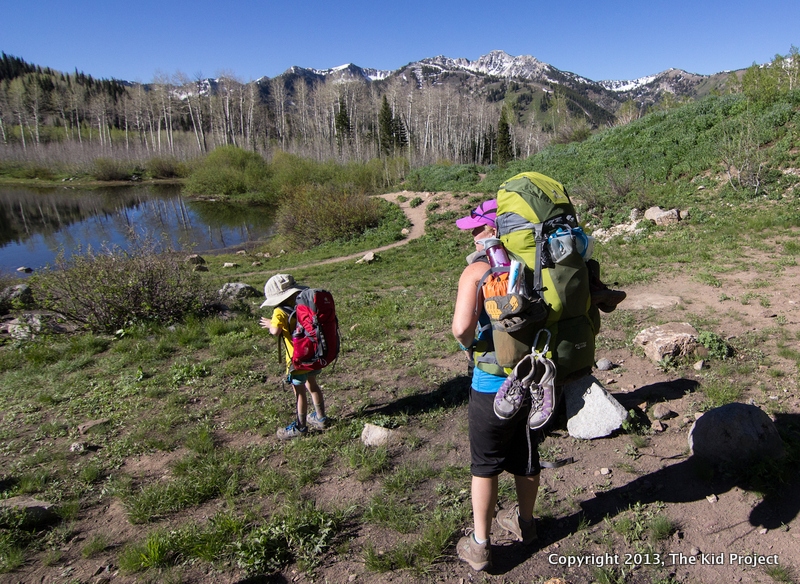 Backpacking, Wasatch, family