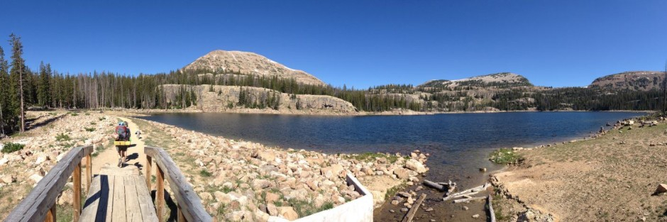 panoramic Wall lake, backpacking in High Uintas