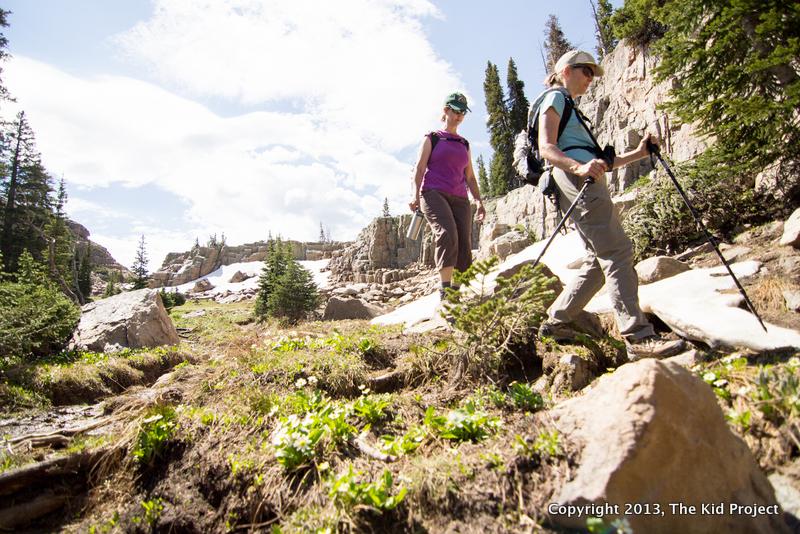 hiking the Notch Trail towards Ibantik Lake