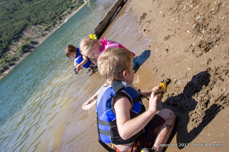 beach lake play at Pineview Reservoir