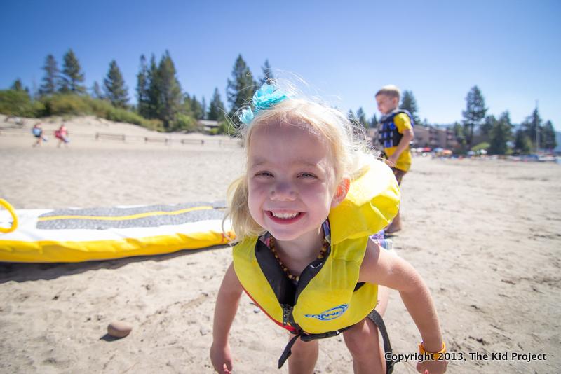 Smiling little girl, beach