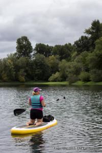 SUP Hang Ten on Willamette River