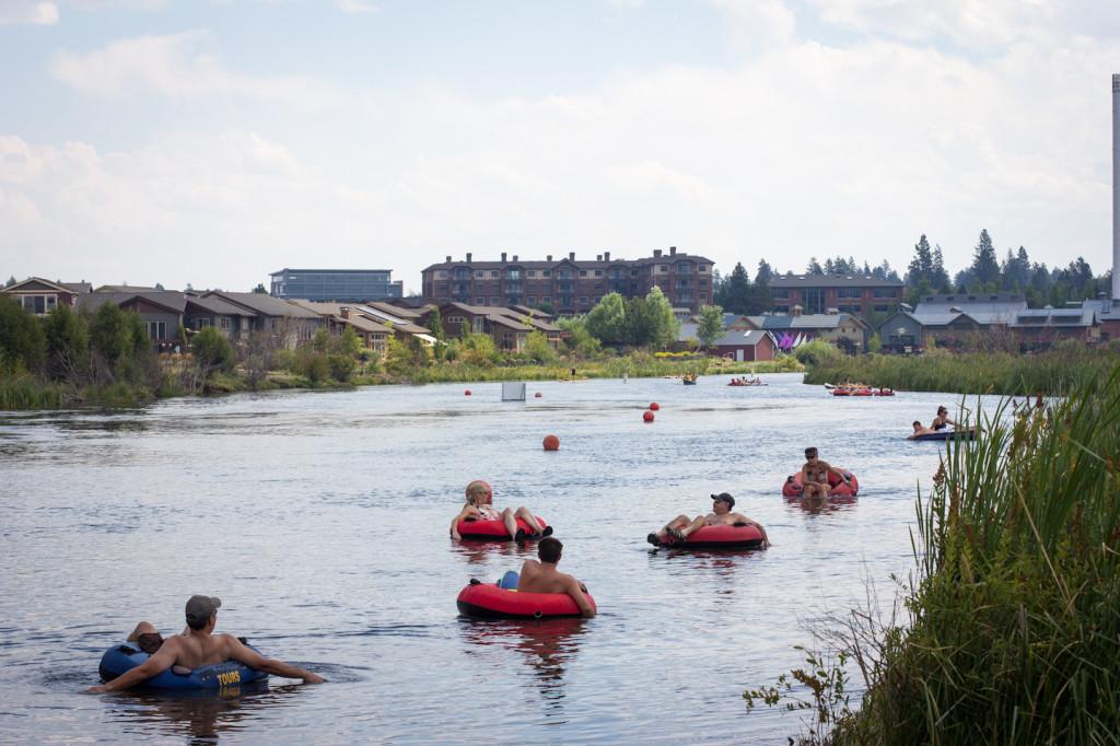 Tubing the Deschutes River, OR