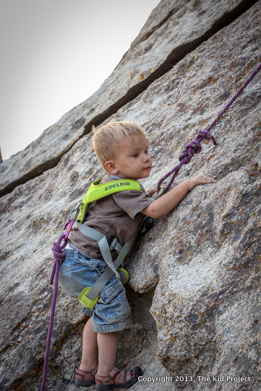 two-year-old climbing