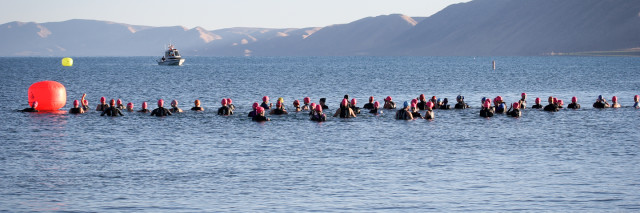 Bear Lake Triathlon swim start