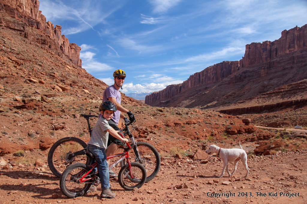 faher and son bike ride in Moab, UT
