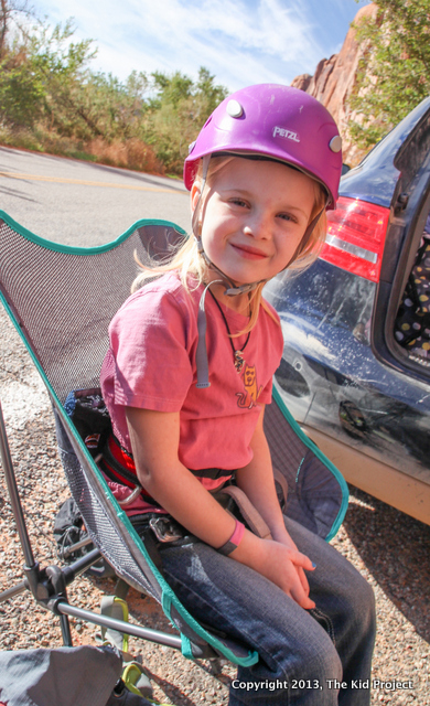 Joey Chair by TravelChair.com for climbing, camping, and family fun