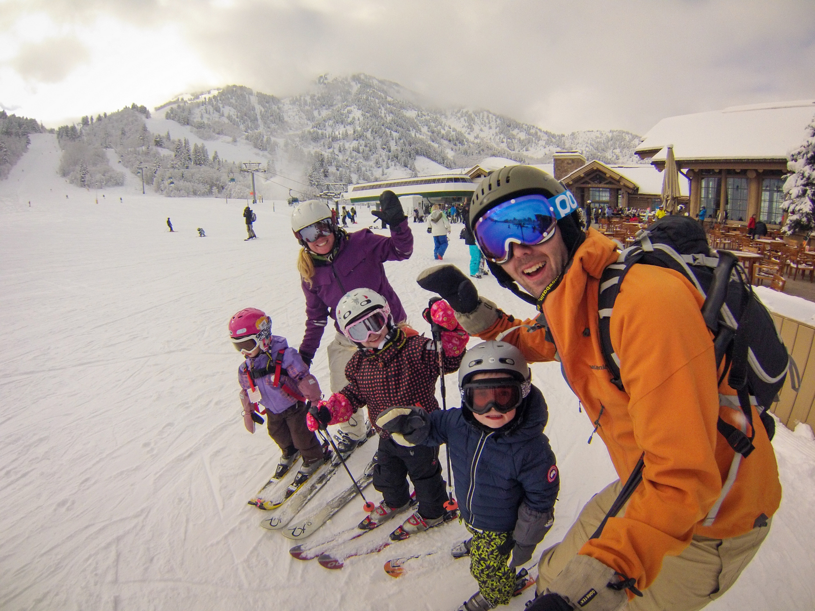 Family skiing in Utah, Snowbasin
