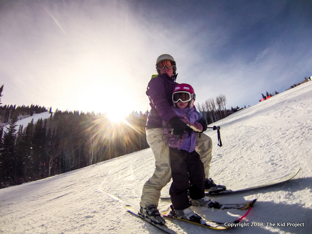 Skiing with toddler at Canyons resort