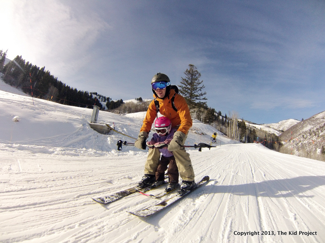 Skiing with young kids at Canyons Resort