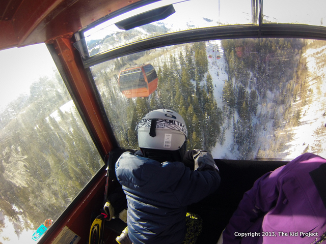 Kids love riding the Red Pine Gondola